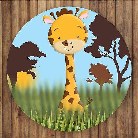 Painel Tecido Redondo Safari Decoração Festa 02
