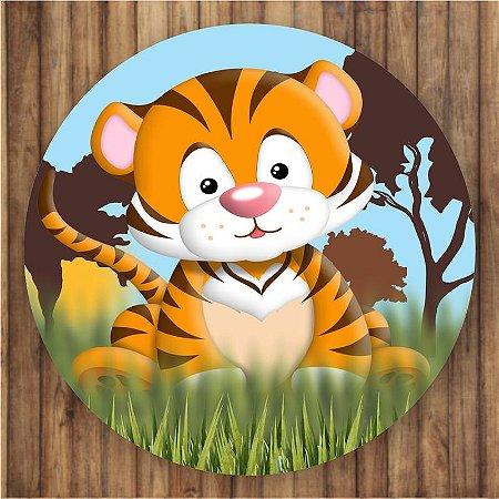 Painel Tecido Redondo Safari Decoração Festa 06