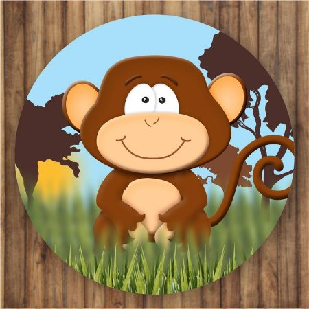 Painel Tecido Redondo Safari Decoração Festa 08