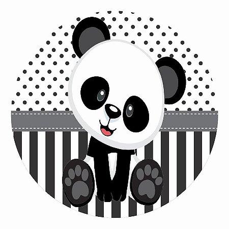 Painel Tecido Redondo Panda Baby Decoração Festa 01
