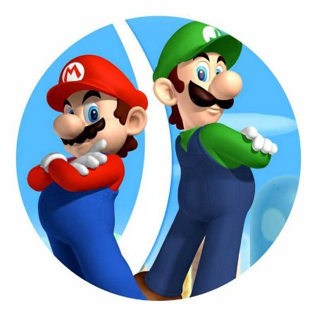 Painel Tecido Redondo Super Mario Decoração Festa 06
