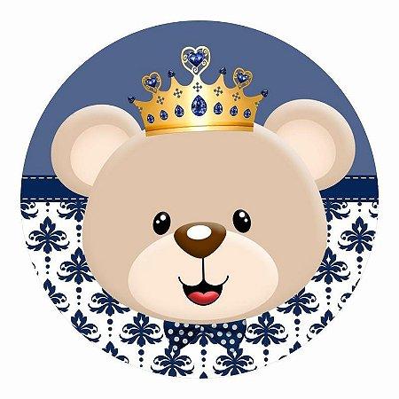 Painel Tecido Redondo Ursinho Principe Decoração Festa 06