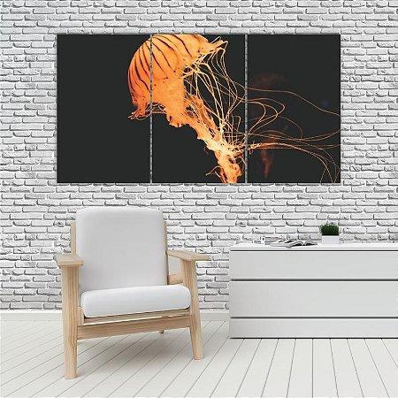 Quadro Mosaico Decoração Animal 121x65 com 3 Peças Mod 74