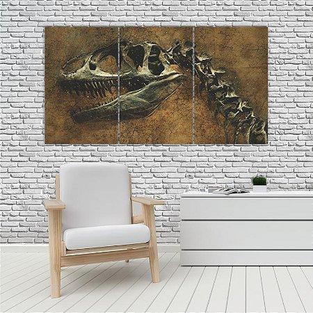 Quadro Mosaico Decoração Animal 121x65 com 3 Peças Mod 78