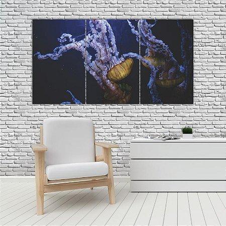 Quadro Mosaico Decoração Animal 121x65 com 3 Peças Mod 84