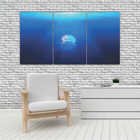 Quadro Mosaico Decoração Animal 121x65 com 3 Peças Mod 86
