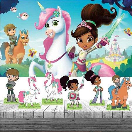 Kit Festa Princesa Nella 6 Display + Painel Aniversário