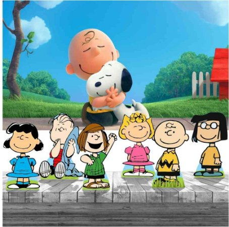 Kit Festa Snoopy 6 Display + Painel Aniversário
