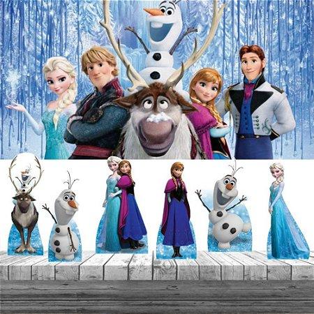 Kit Decoração De Festa Frozen Displays De Mesa E Painel