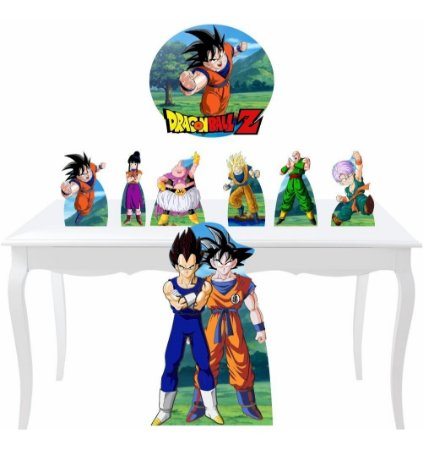 Kit 7 Totem Display Festa Placa Dragon Ball Z Decoração