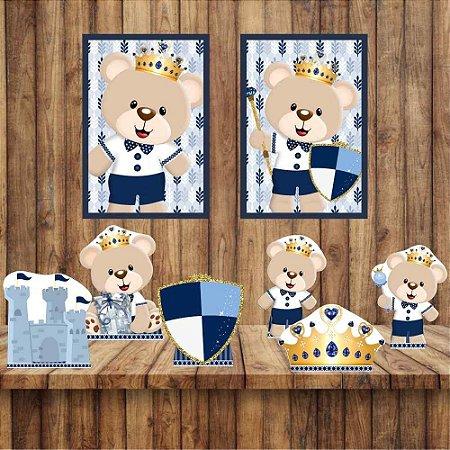 Kit 6 display Mesa 2 Quadros Ursinho Príncipe Decoração 3-4