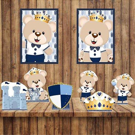 Kit 6 display Mesa 2 Quadros Ursinho Príncipe Decoração 5-6