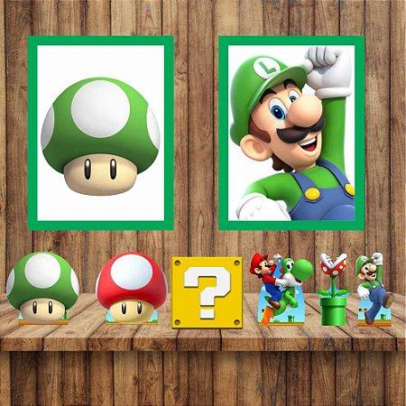 Kit 6 display Mesa E 2 Quadros Super Mario Mod 4-5