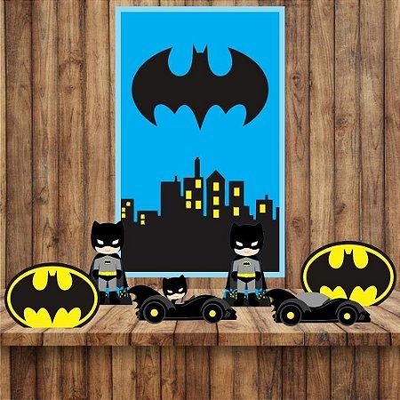 Kit 6 display Mesa E quadro Batman Decoração Festa 04