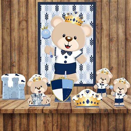 Kit 6 display Mesa E Quadro Ursinho Príncipe Decoração 01