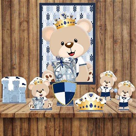 Kit 6 display Mesa E Quadro Ursinho Príncipe Decoração 02