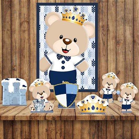 Kit 6 display Mesa E Quadro Ursinho Príncipe Decoração 03