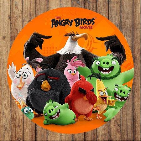 Painel Tecido Redondo Angry Birds Decoração Festa 02