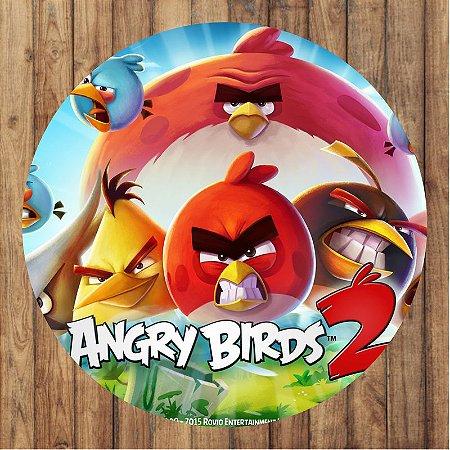 Painel Tecido Redondo Angry Birds Decoração Festa 03