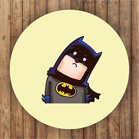 Painel Tecido Redondo Batman Cute Decoração Festa 01