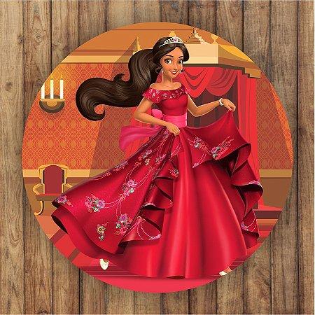 Painel Tecido Redondo Elena de Avalor Decoração Festa 04
