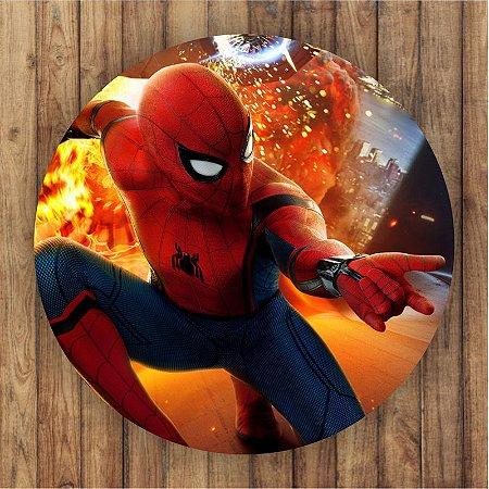 Painel Tecido Redondo Homem Aranha Decoração Festa 04