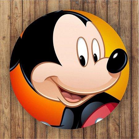 Painel Tecido Redondo Mickey Decoração Festa 04