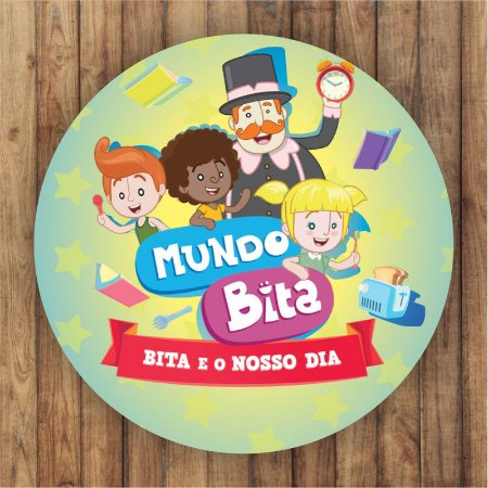 Painel Tecido Redondo Mundo Bita Decoração Festa 01