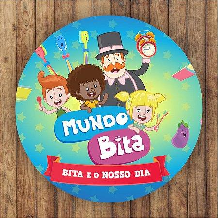 Painel Tecido Redondo Mundo Bita Decoração Festa 02