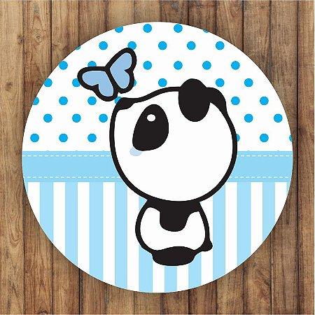 Painel Tecido Redondo Panda Menino Decoração Festa 02