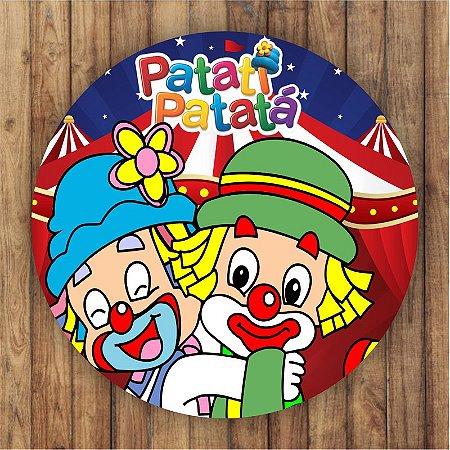 Painel Tecido Redondo Patati Patata Decoração Festa 03