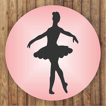 Painel Tecido Redondo Bailarina Sombra Decoração Festa 01