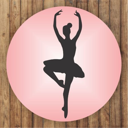 Painel Tecido Redondo Bailarina Sombra Decoração Festa 04