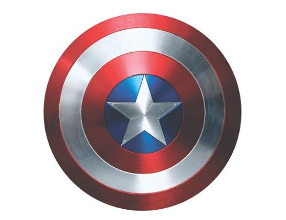 Escudo Capitão América 60x60cm Avengers Marvel