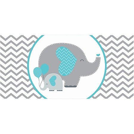 Painel em Lona Elefantinho Azul 01