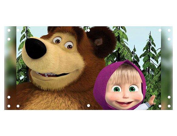 Painel em Lona Masha e o Urso 03