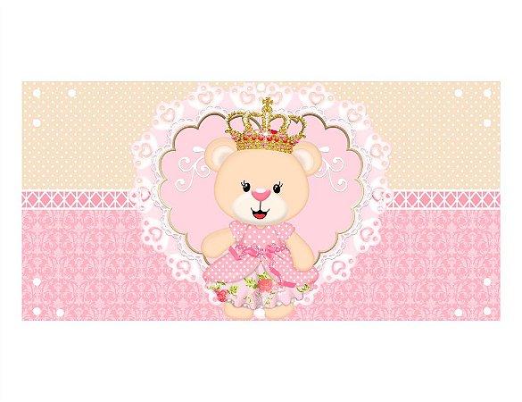Painel em Lona Ursinha Princesa 01