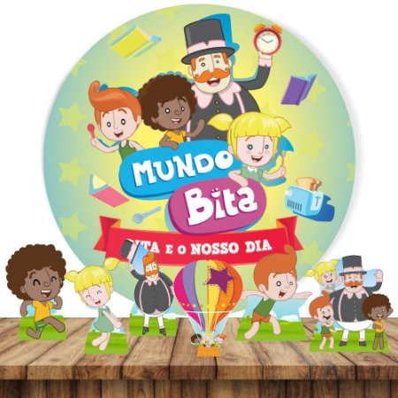 PAINEL TECIDO REDONDO 1.30M + 6 DISPLAYS FESTA LOL SURPRISE MOD 1