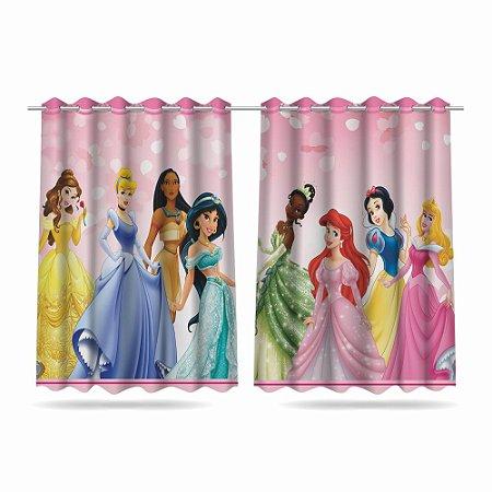 Cortina Infantil Princesas Disney 2,60x1,50cm Em Tecido