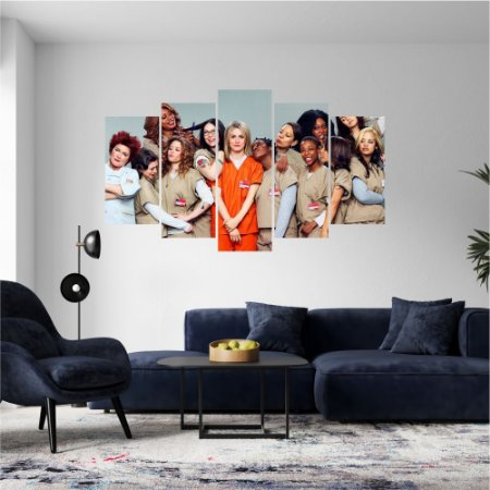 Quadro Mosaico Série Orange Is The New Black Mod 13