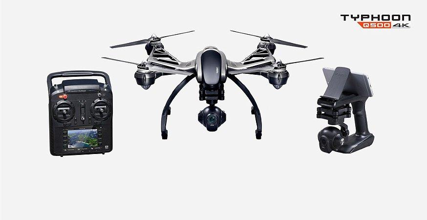 Yuneec Typhoon Q500 4K + Steady Cam + 2 Baterias + Hardcase - Pronto para Voar