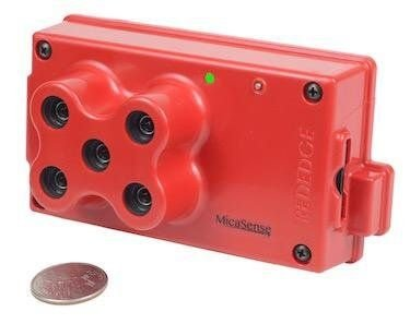 Sensor Multiespectral MicaSense RedEdge - Bandas Blue, Green, Red, Red Edge, Near-Infrared