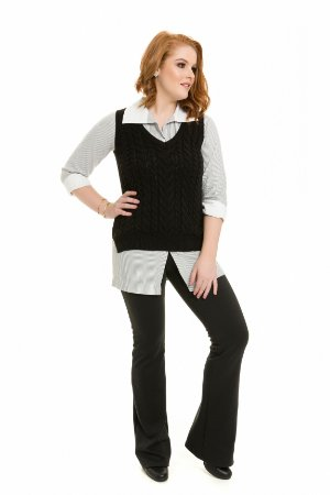 Colete coleteria tricot preto