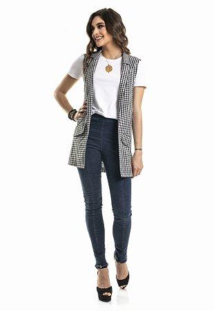 Calça jeans coleteria skinny cintura alta azul