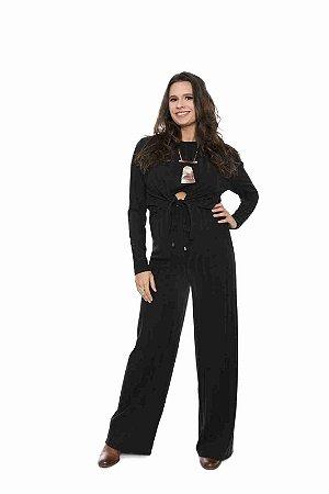 Calça gestante pantalona coleteria preto