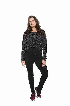 calça gestante legging com amarração preta