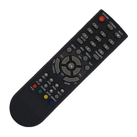 Controle Remoto Conversor Digital Toptiva  PVR 1000/ PVR 1001/ PVR 1002