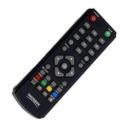 Controle Remoto Receptor Showbox Ultra HD Multimedia