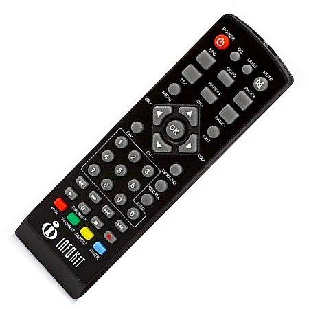 Controle Remoto Original Conversor Digital Inforkit ITV -300 4G Hdmi