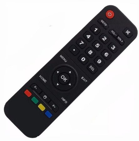 Controle Remoto Receptor Smart Tv Htv Box 5 IPTV Wi-Fi Hd Android Netflix